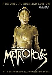 Metropolis DVD cover with robot on cover