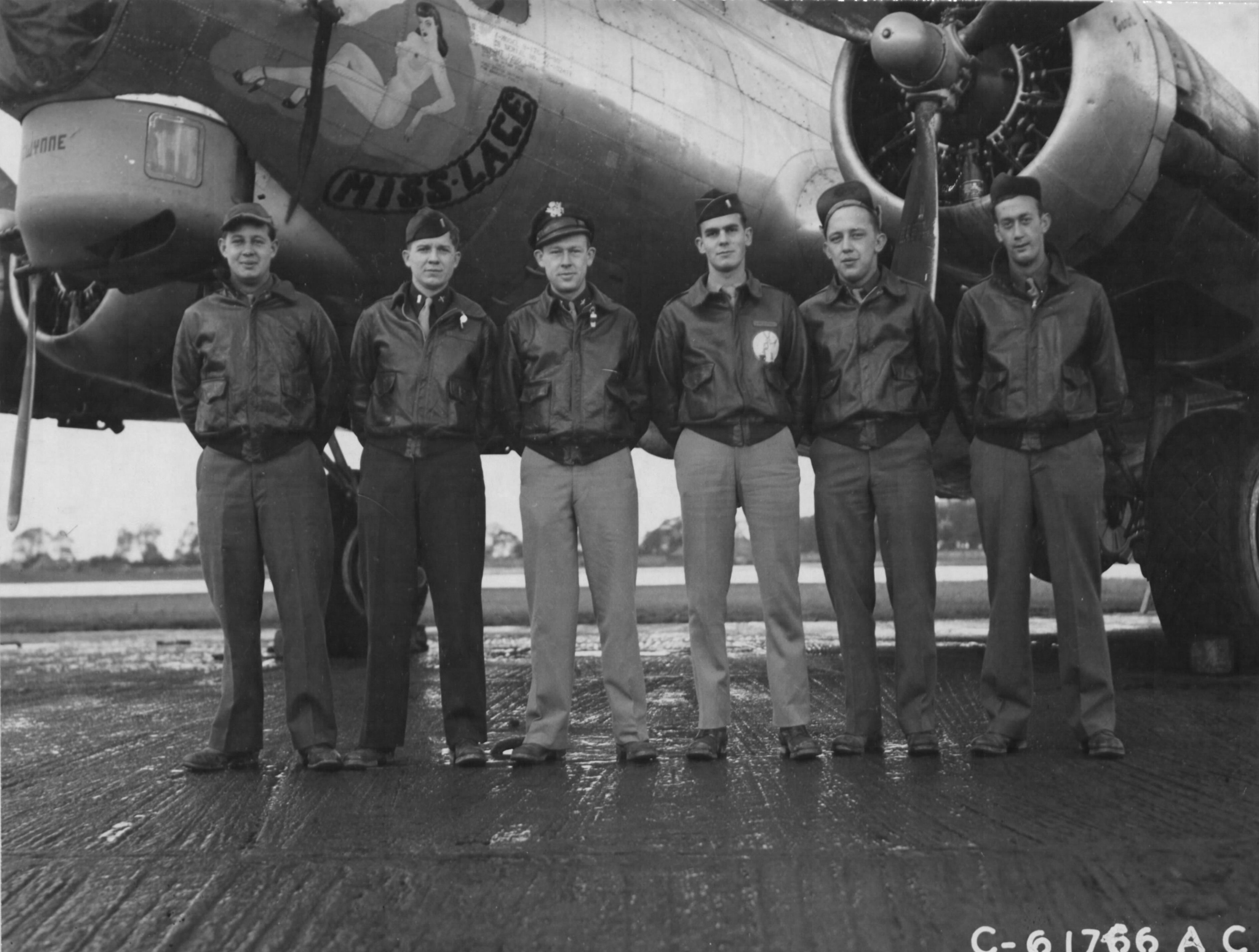 Lt Peter F Cureton and flight crew