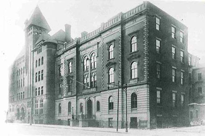 Original Polytechnic building on Livingston Street.