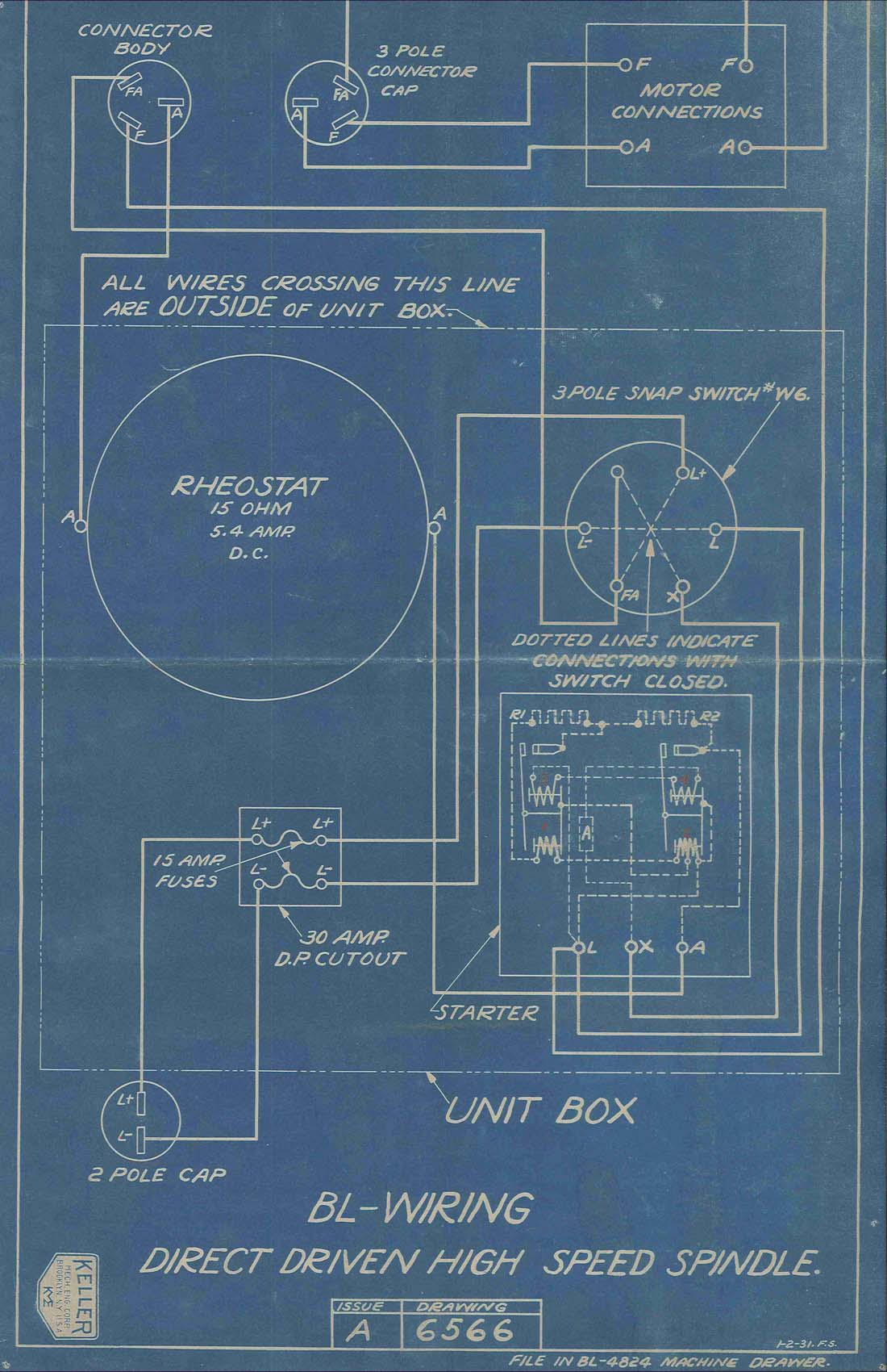 Blueprint from the Keller Mechanical Engineering Corporation Collection, Poly Archives.