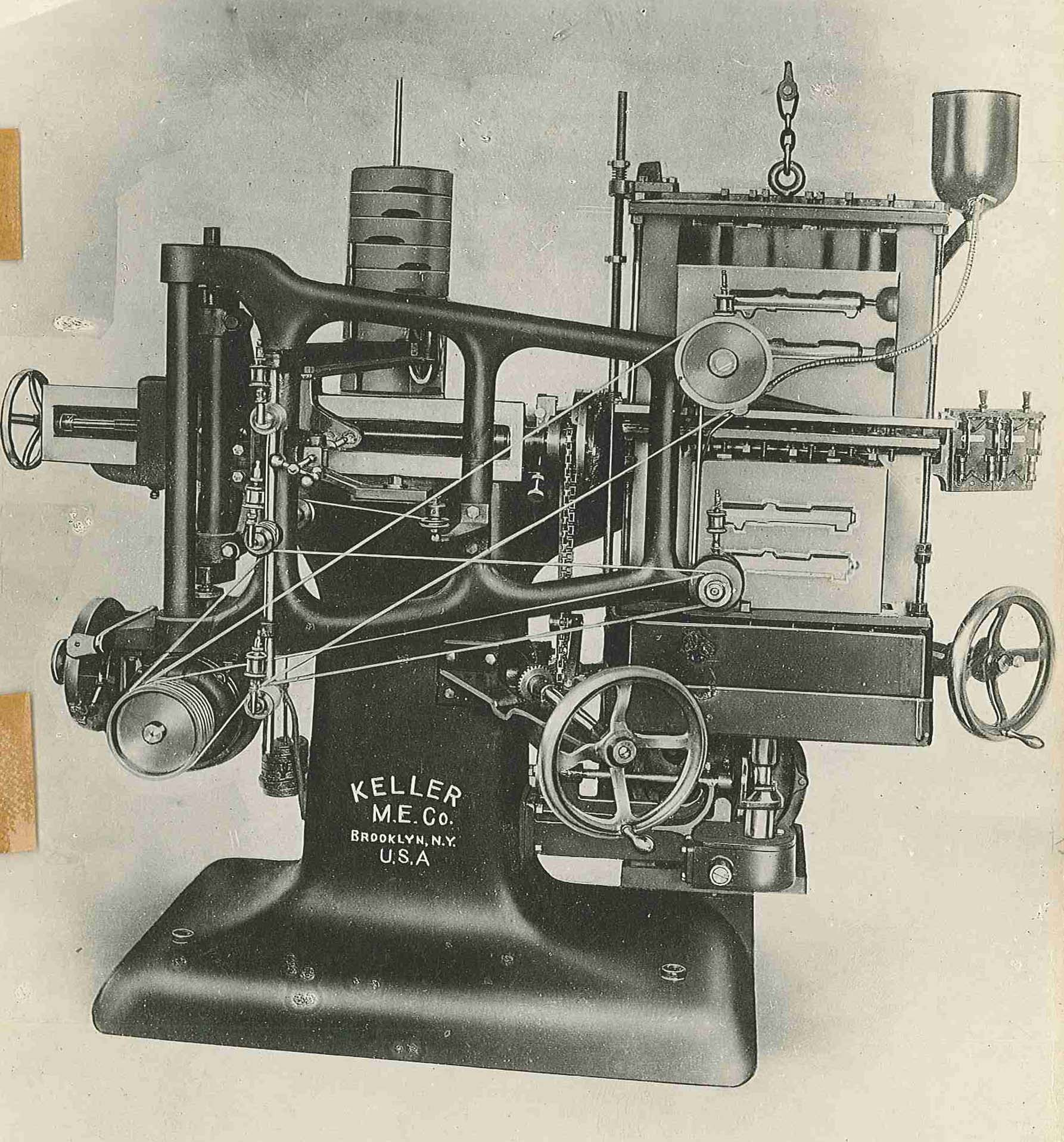 Keller machine, Keller Mechanical Engineering Corporation Collection, Poly Archives.