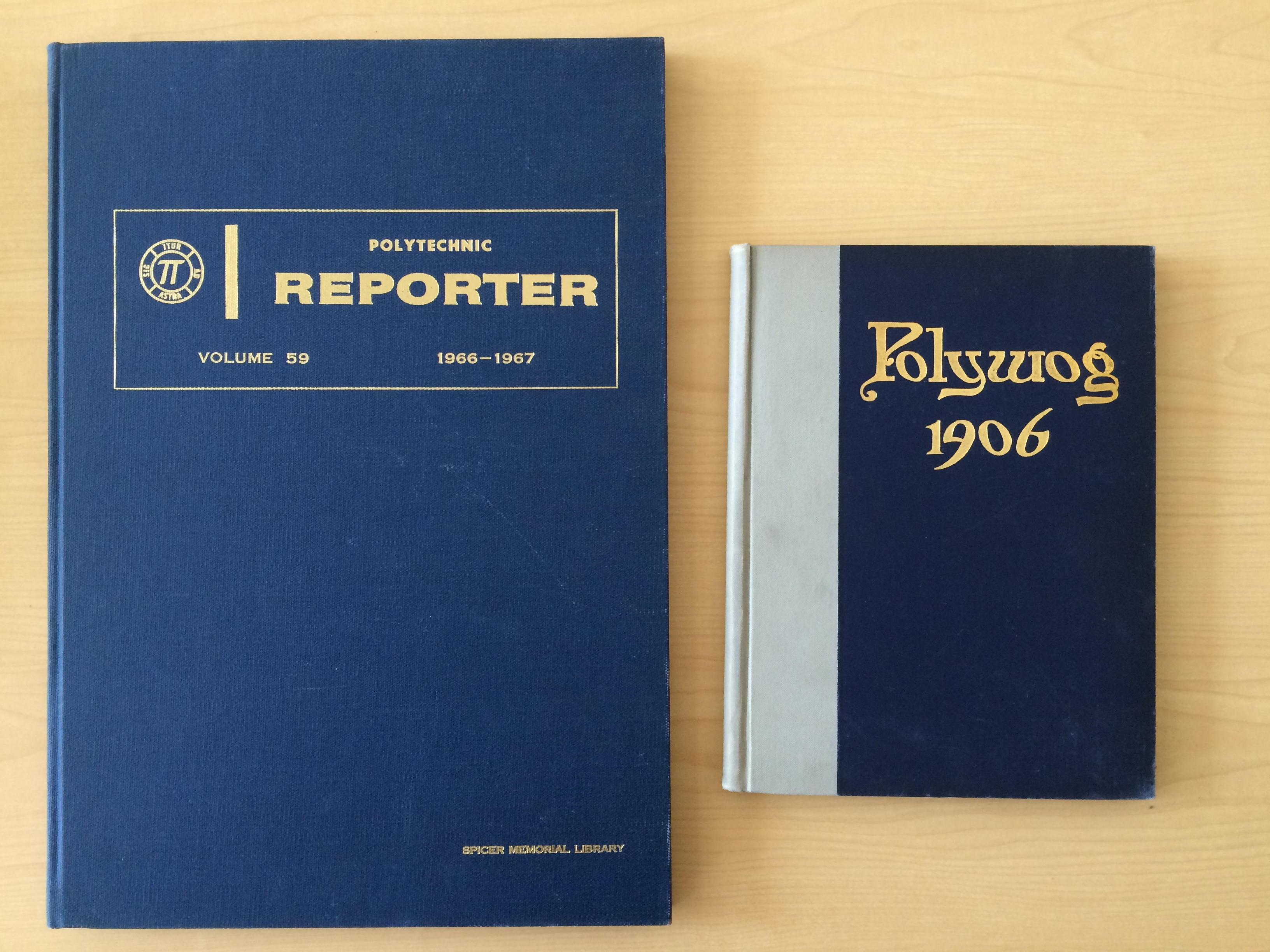 Bound serials including Polytechnic Reporter and the Polywog.