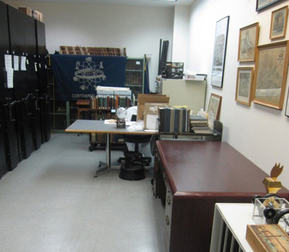 Poly Archives room in Dibner Library
