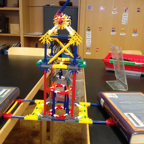 Student structure built with K'Nex