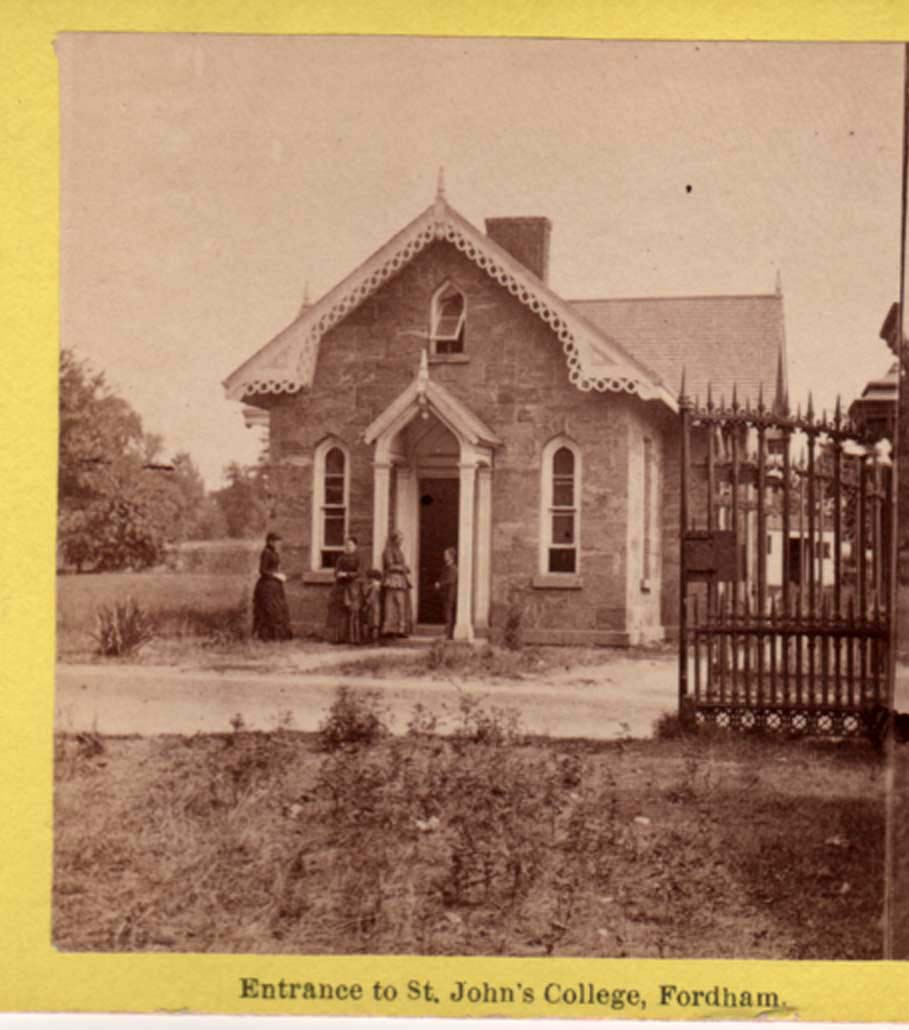 Entrance to St John's College circa 1880