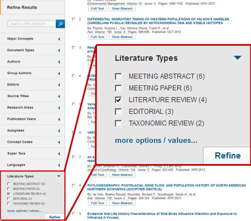 literature review checkbox