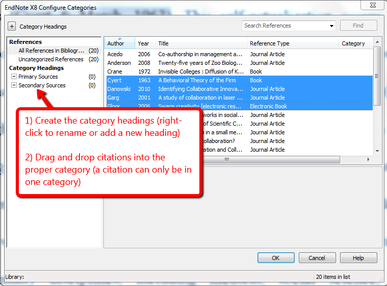 creating bibliographies with endnote