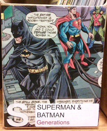 A picture of the cover of a box for Superman/Batman