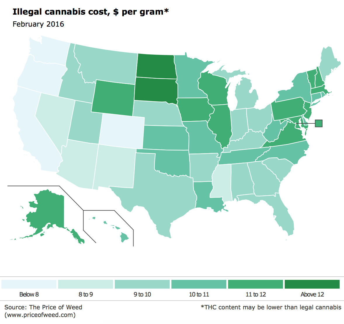 Screenshot of the cost of illegal cannabis