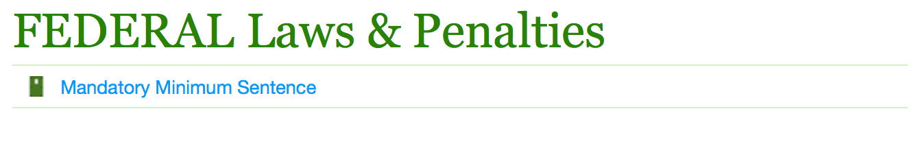 Federal laws and penalties