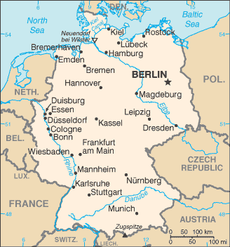 Modern Map Of Germany.General Information Hist 325 Modern Germany Libguides