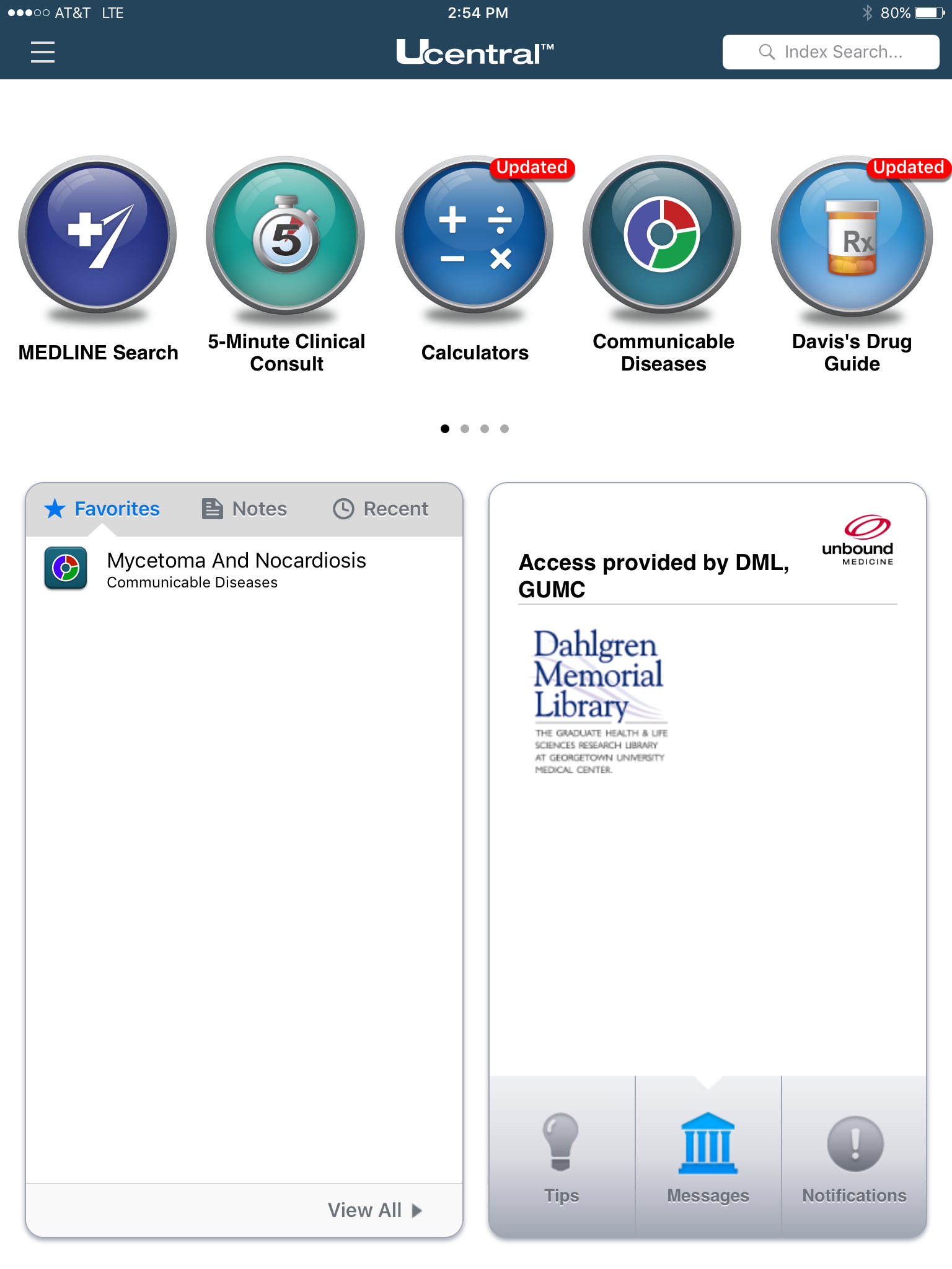 uCentral app home screen