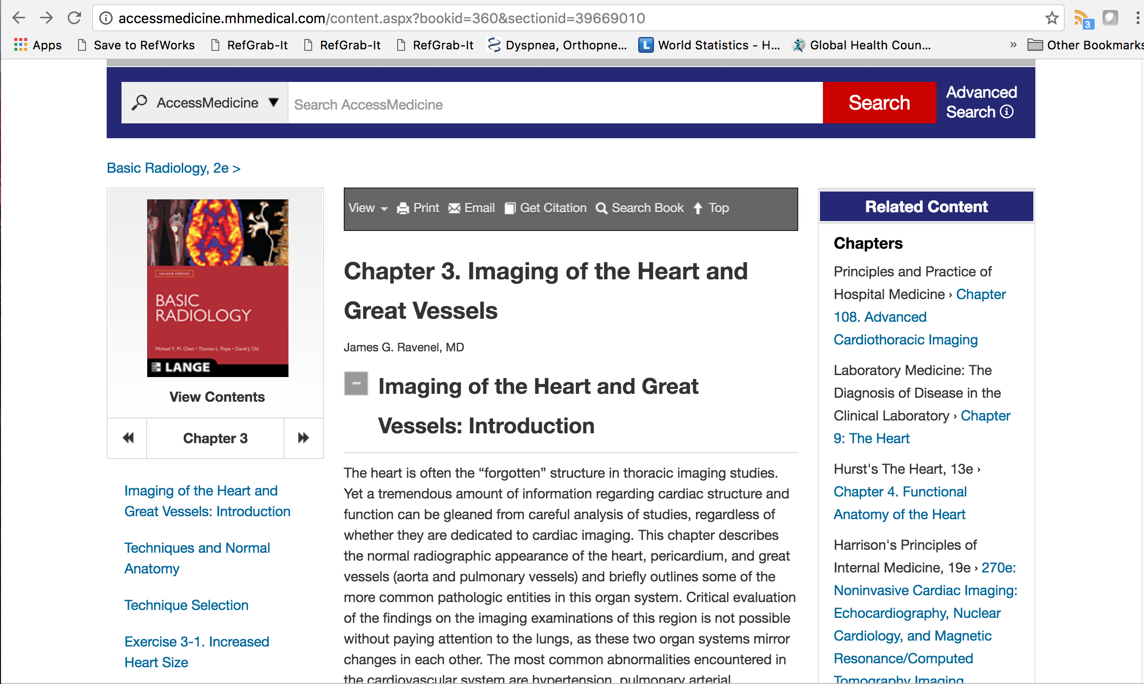 Example book chapter Imaging of the heart and great vessels