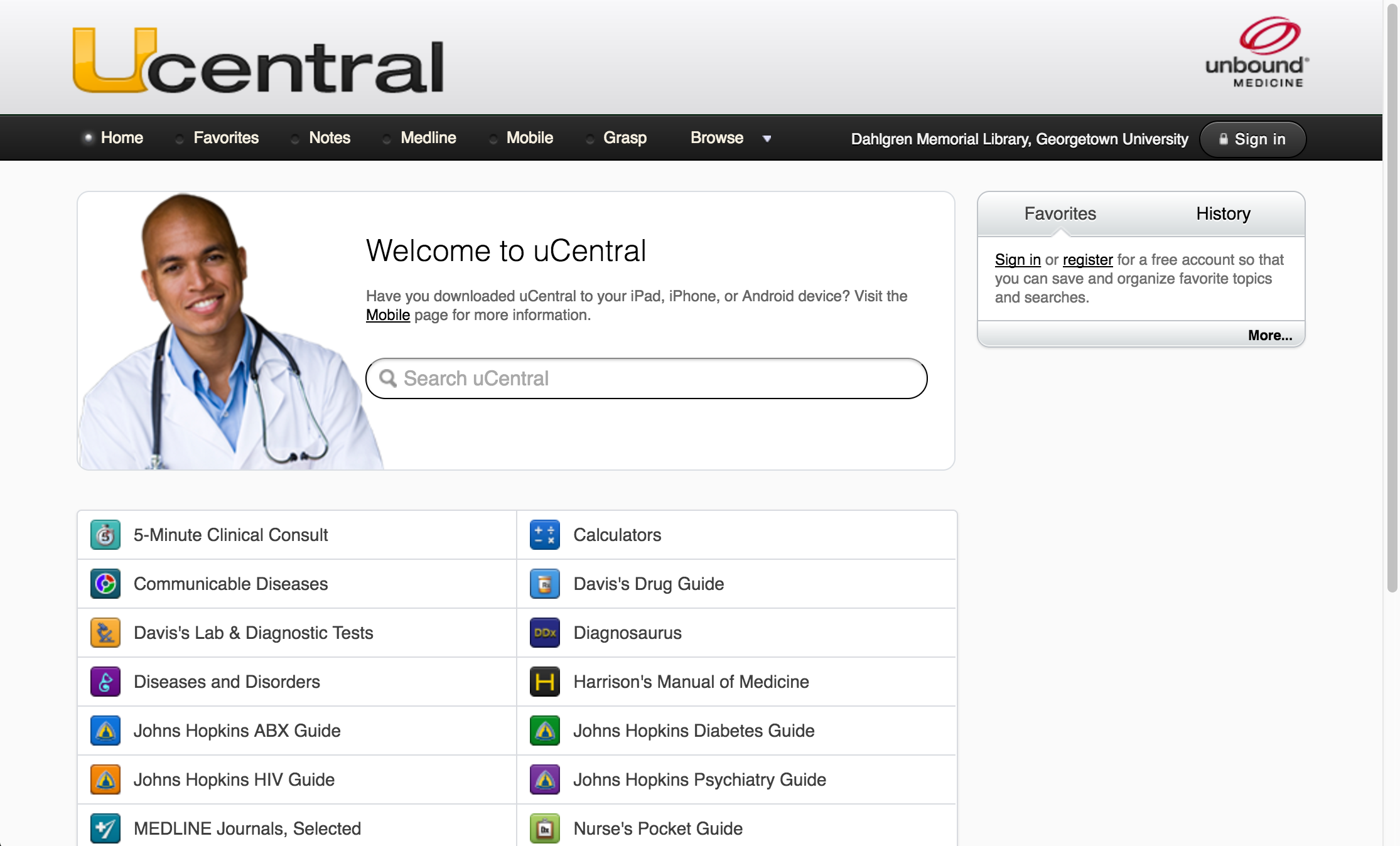Website of uCentral