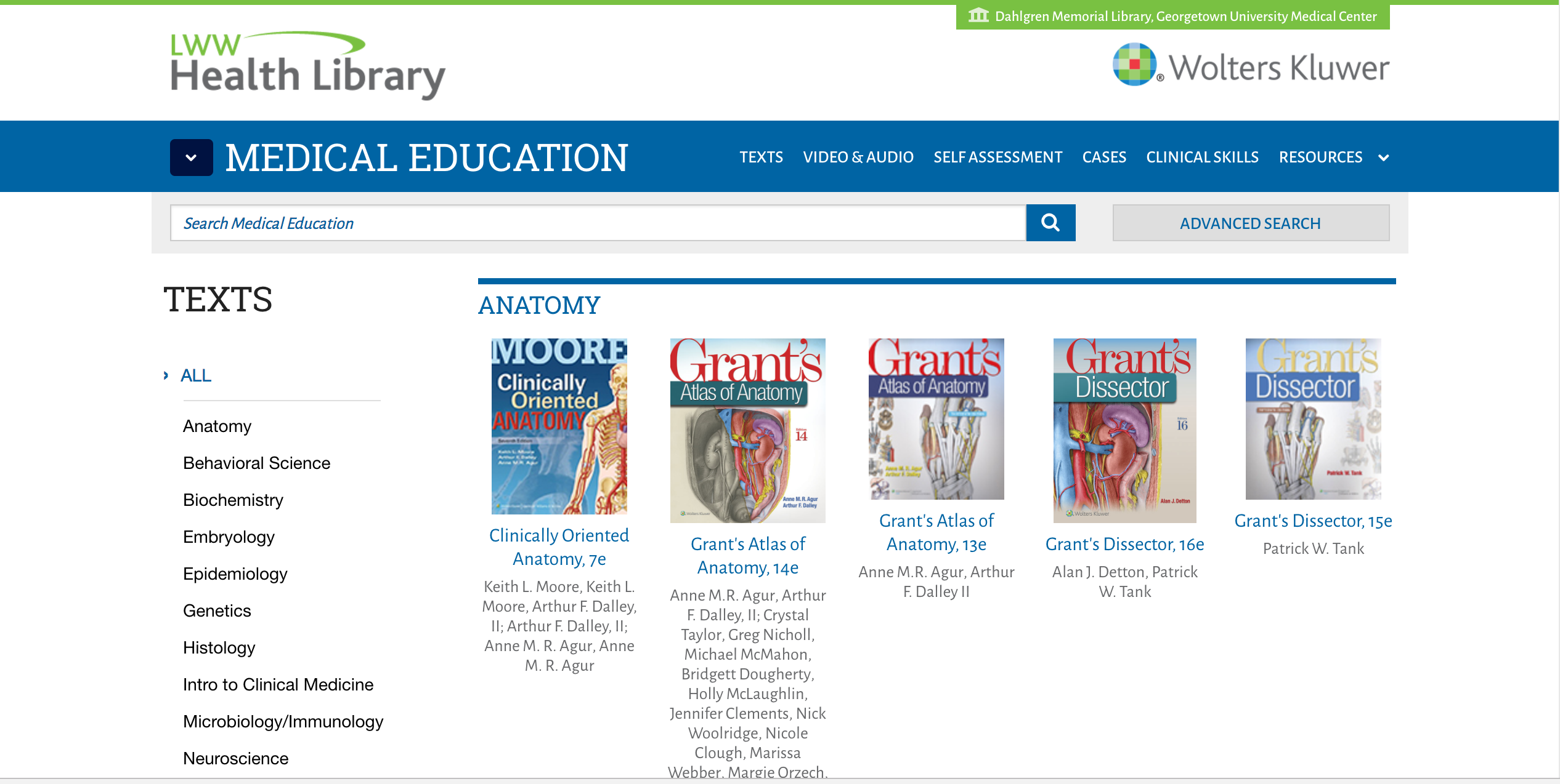 Search for an eBook from the lWW Health Library