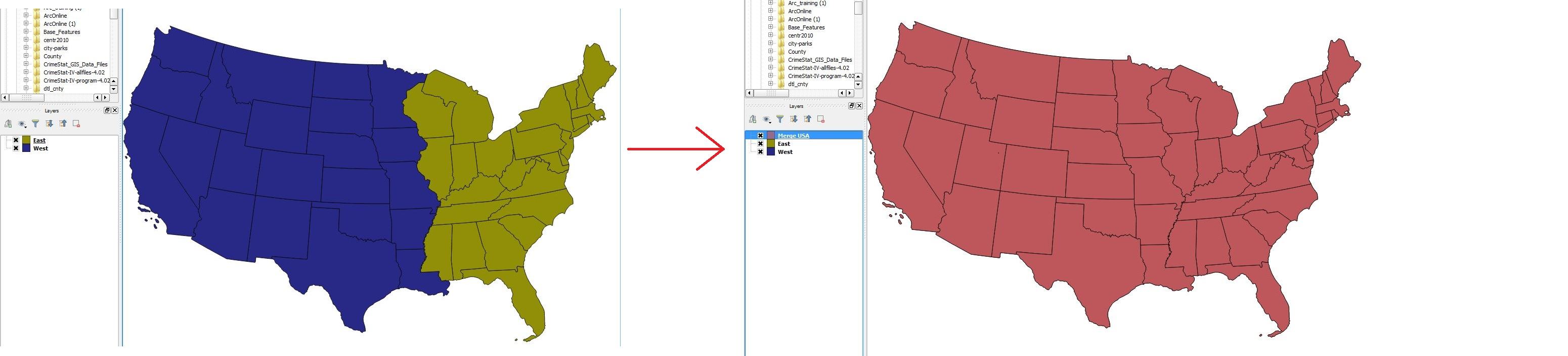 Merge Shapefiles - QGIS - LibGuides at Duke University