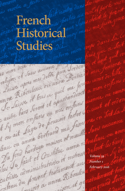 Journal cover - gold title on red, white, blue color blocks with hand-writing background