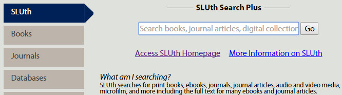 SLUth - Search Plus Search Box