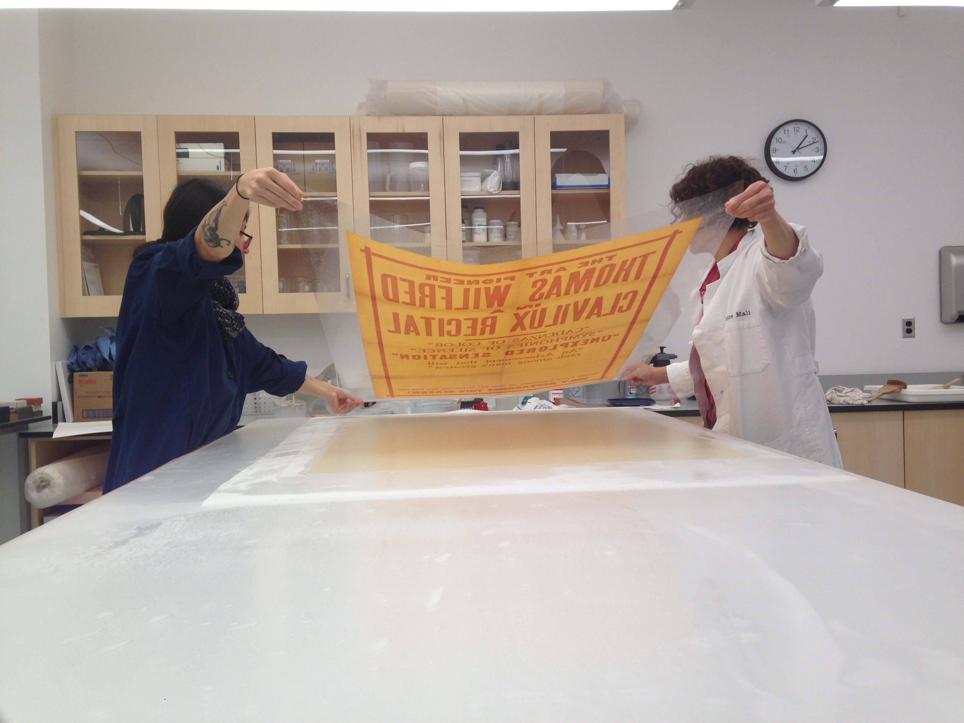 conservation staff line a brittle broadside