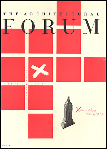 Cover of The Architectural Forum magazine