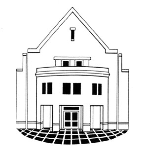 logo of library building