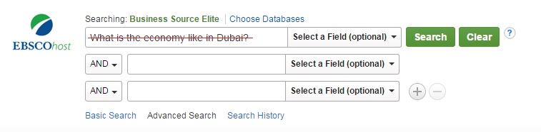 EBSCOhots Search Example of Keywords