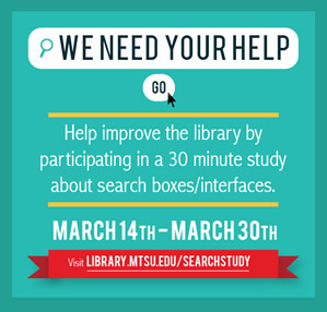 Help improve the library: usability study