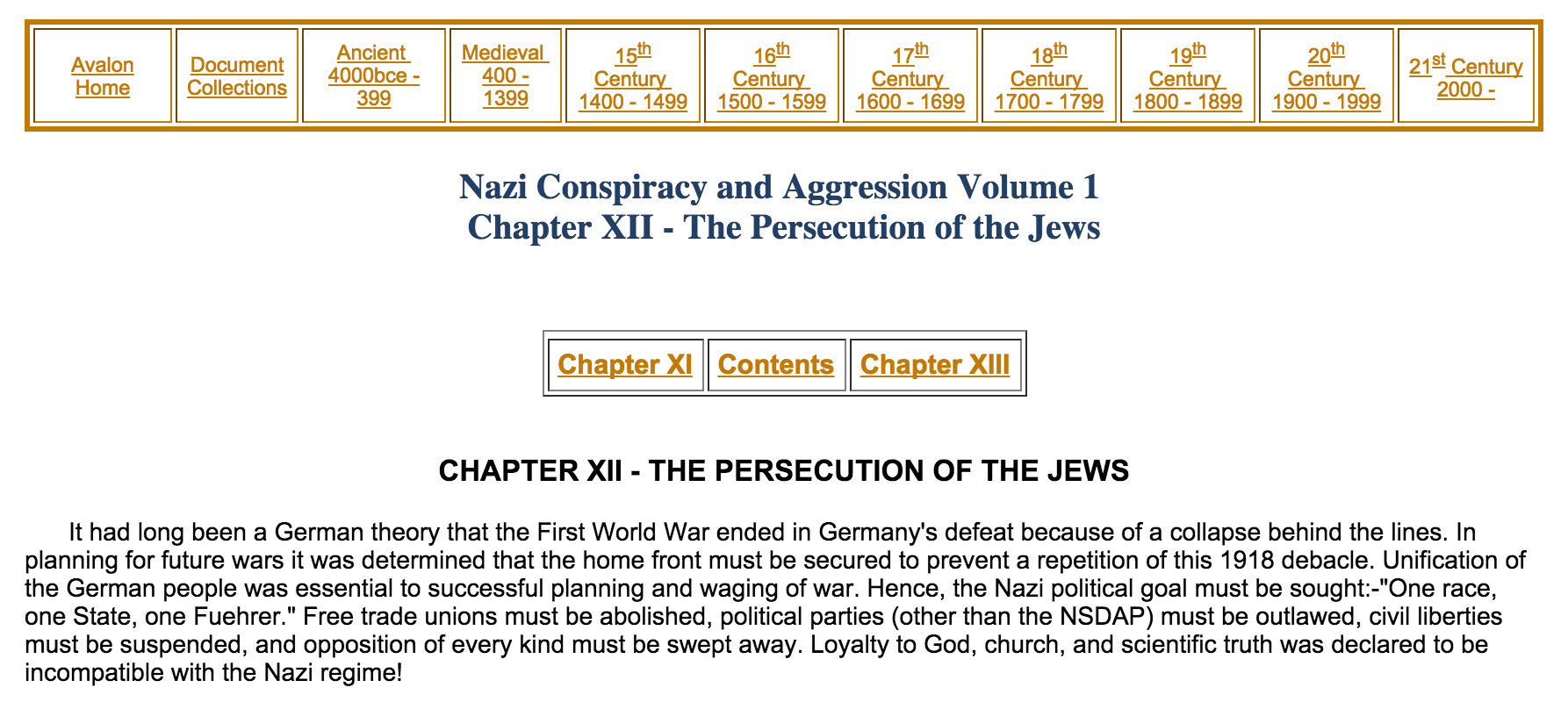 Avalon Project Persecution of the Jews