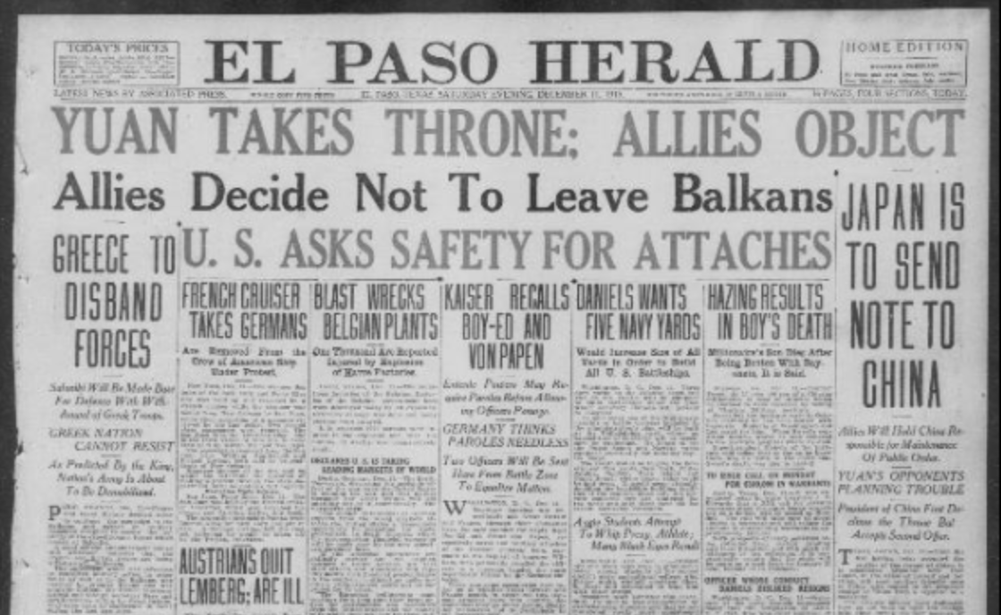 El Paso Herald from Chronicling America