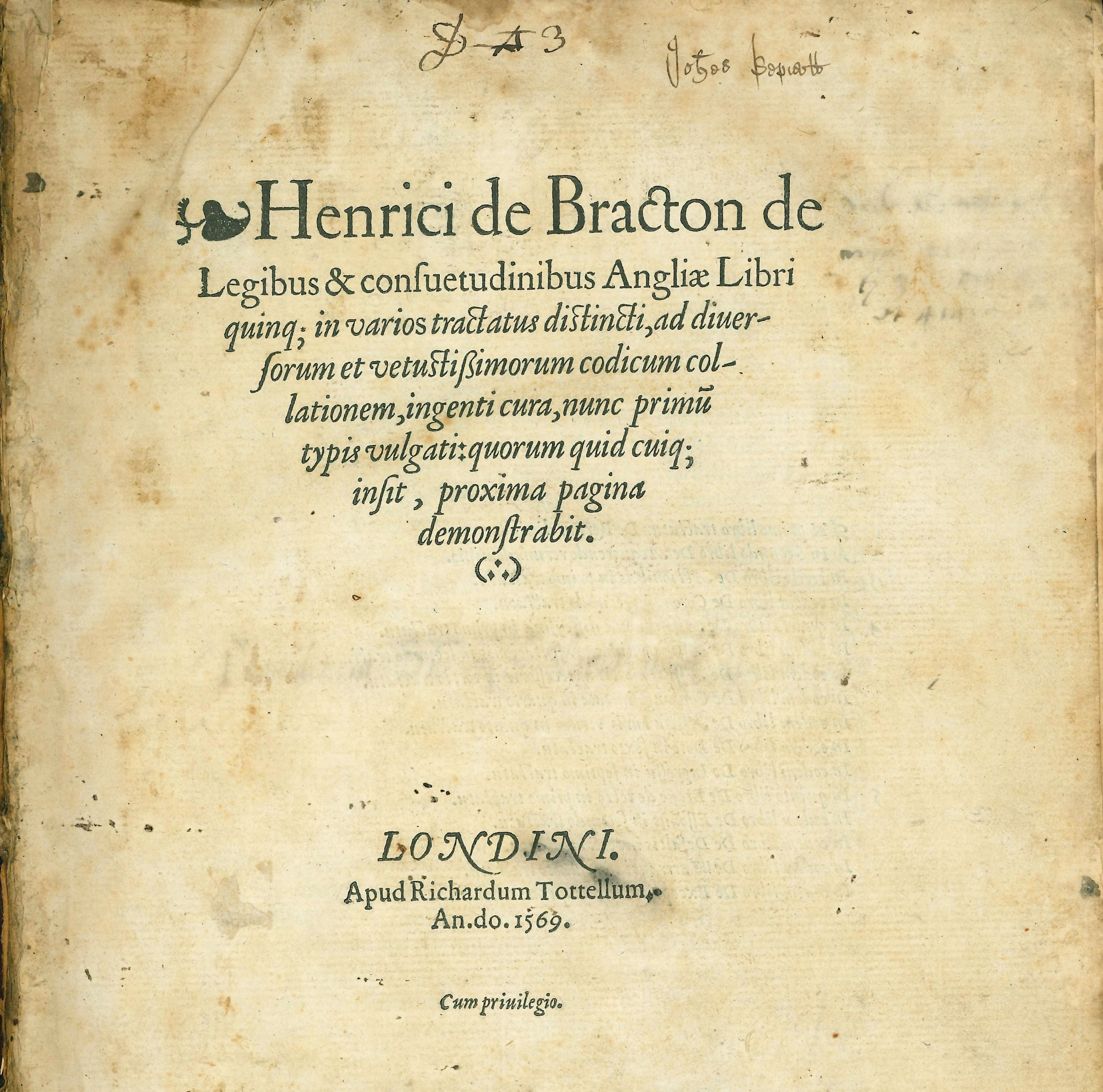 Photograph of historic legal document