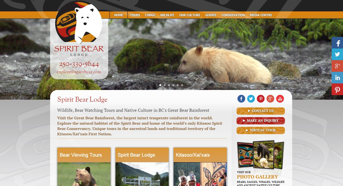 Screenshot of www.spiritbear.com