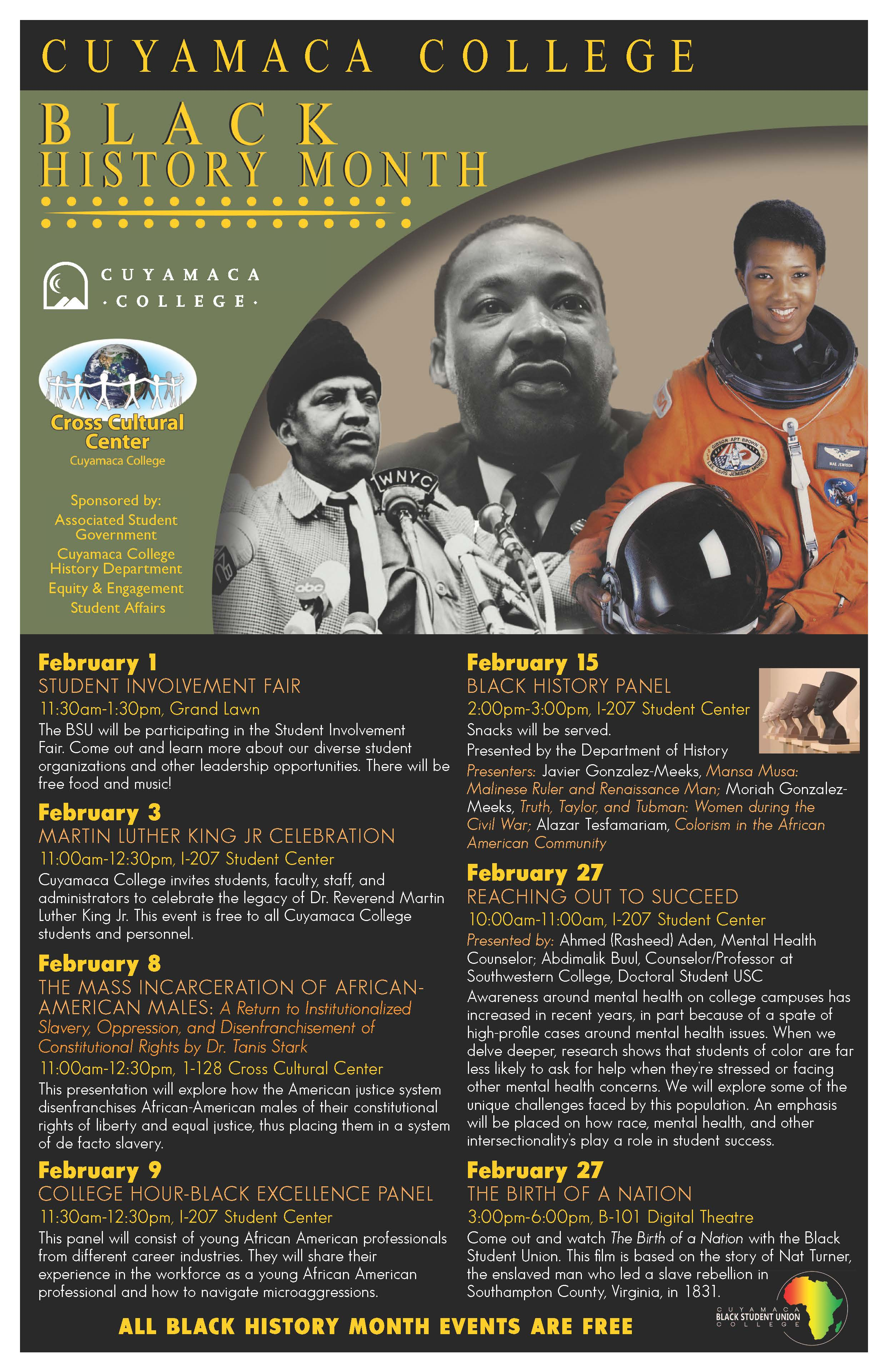Black History Campus Events