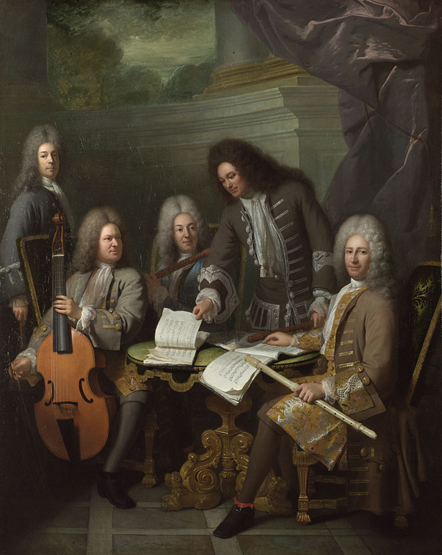 """La Barre and Other Musicians"" by André Bouys, painted ca. 1710"