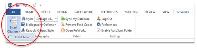Using RefWorks with Microsoft Word - Choose Your RefWorks