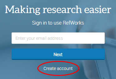 Picture of Create Account Button