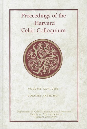Image of the cover of the Proceedings of the Harvard Celtic Colloquium