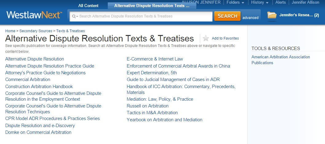 Adr books alternative dispute resolution research research adr texts and treatises note westlawnext is a subscription database the hls library cannot provide westlawnext accounts for non hls affiliates fandeluxe Images