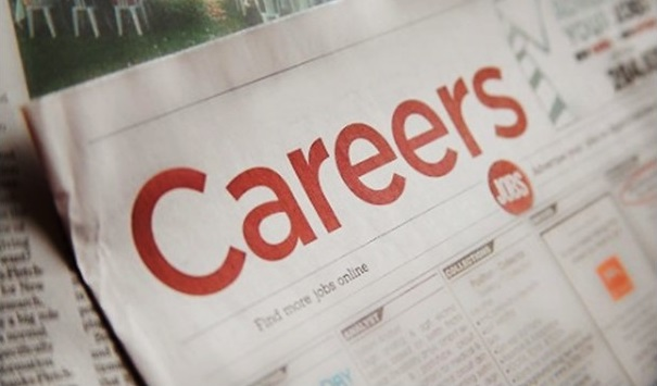 The careers section of a print newspaper.