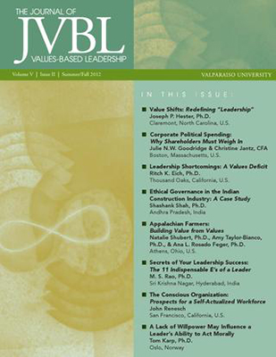 The Journal of Values Based Leadership