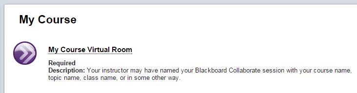 Blackboard Collaborate Icon and Name