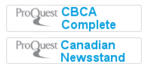Screenshot of CBCA and Canadian Newsstand connector buttons from the Ebsco Discovery Layer search page