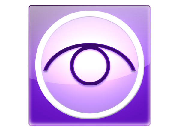Window-Eyes logo. A purple cartoon eye.