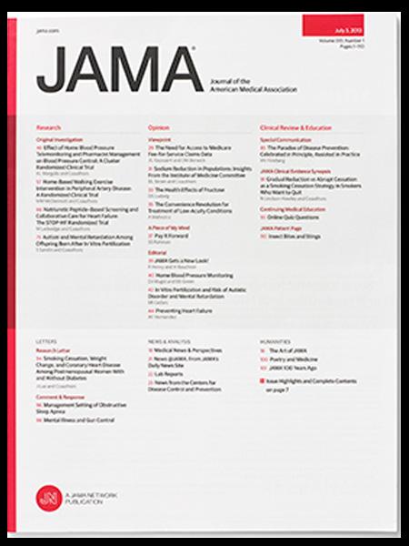 Risultati immagini per journal of american medical association