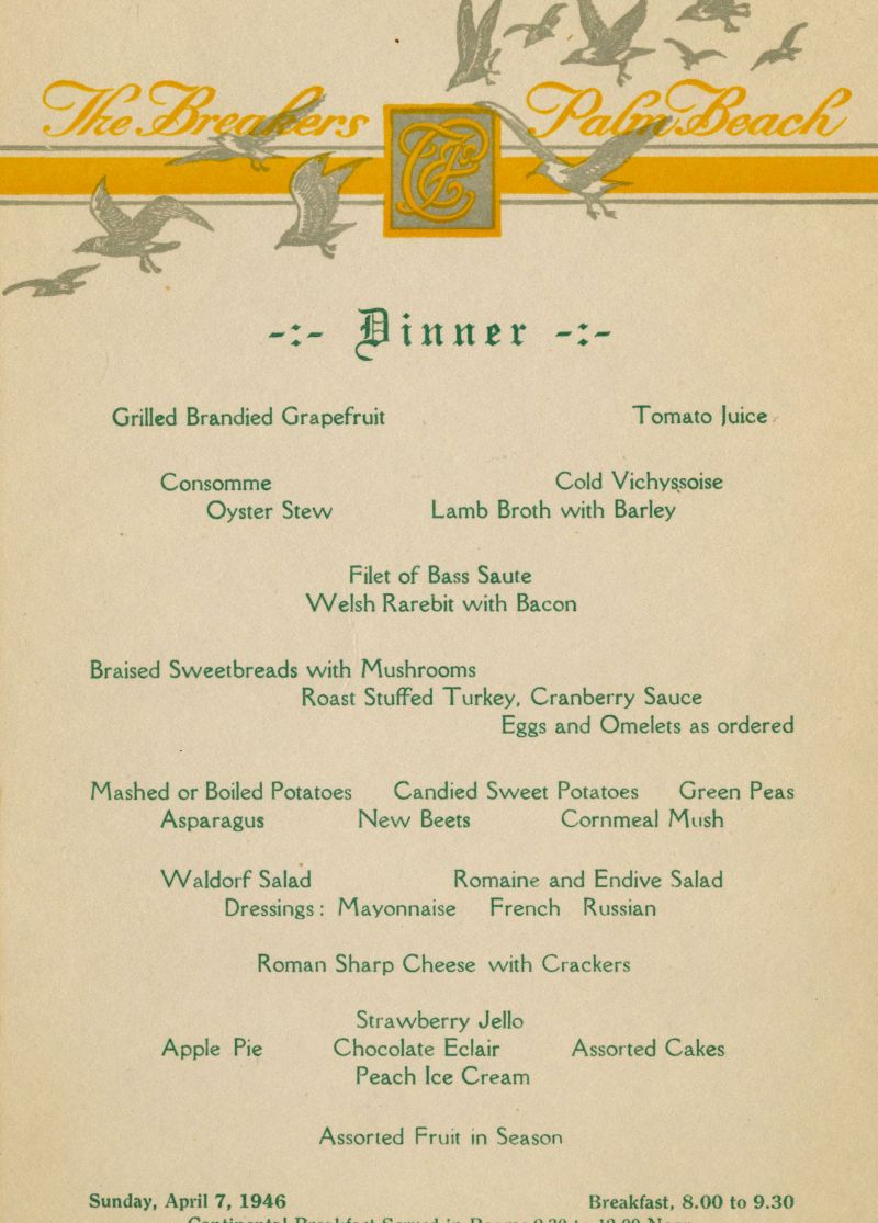 1946: The Year in Menus