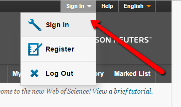Web of Science Personal Account Sign In