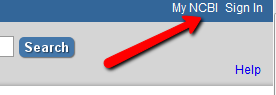 NCBI Account Login Link