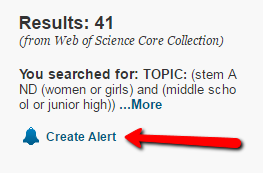 Web of Science Search Alert Example