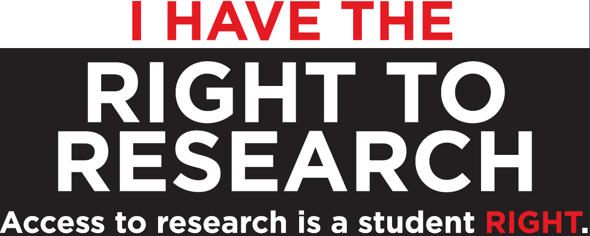 access to research is a student right