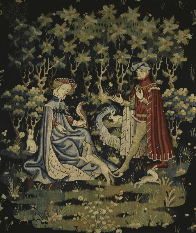 Medieval Tapestry - Offering of the Heart