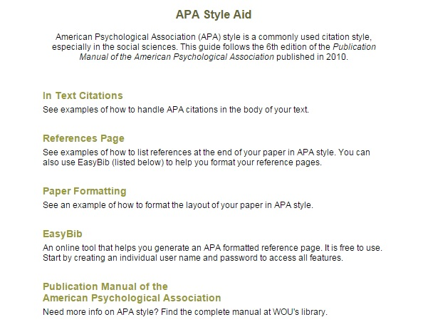 APA MLA Citations College Of Professional Continuing Studies